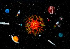 Sistema Solar Imagen de archivo