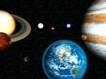 Sistema Solar 3D Foto de archivo libre de regalías