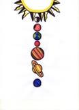 Sistema solar Imagens de Stock