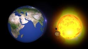 Sistema solar animado, universeStars 3D dos planetas e gal?xias neste elemento visual decorado pela NASA ilustração do vetor