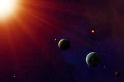 Sistema solar de Exoplanets Imagens de Stock