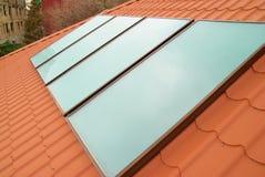 Sistema solar de la calefacción por agua Foto de archivo