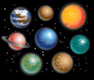 Sistema solar dos planetas Fotos de Stock