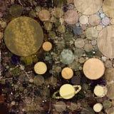 Sistema solar e planetas no espaço Foto de Stock