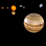 Sistema solar - Jupiter Foto de Stock