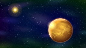 Sistema Solar, lazo inconsútil ilustración del vector