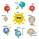 Sistema Solar para los cabritos, concepto de la tarjeta. planeta. vect Imagen de archivo libre de regalías