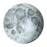 Sistema solar - satélite de terra - lua Ilustração da aguarela Fotografia de Stock Royalty Free