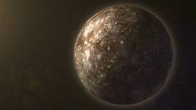 Sistema solare - Mercury È il più piccolo ed il più vicino al Sun degli otto pianeti nel sistema solare, con royalty illustrazione gratis