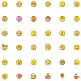 Sistema sonriente del icono Imágenes de archivo libres de regalías