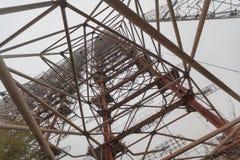 Sistema soviético Duga do radar perto do central nuclear de Chernobyl Foto de Stock Royalty Free