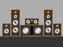 Sistema stereo del Brown illustrazione vettoriale