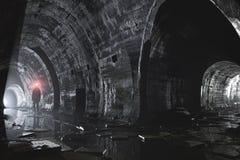 Sistema subterráneo debajo de la ciudad Imagen de archivo libre de regalías
