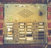 Sistema sucio retro del zumbador del apartamento Fotos de archivo libres de regalías