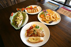 Sistema tailandés sano de la comida fotos de archivo libres de regalías