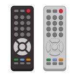 Sistema teledirigido de la TV en el fondo blanco Vector libre illustration