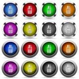Sistema terminal del botón de la posición Imágenes de archivo libres de regalías