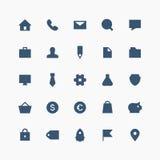 Sistema total del icono del negocio Fotos de archivo libres de regalías