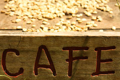 Sistema tradicional de secar o café fotografia de stock royalty free
