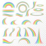 Sistema transparente del arco iris stock de ilustración