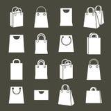 Sistema trasero del vector de los iconos que hace compras, símbolo simplista del tema que hace compras Fotografía de archivo libre de regalías