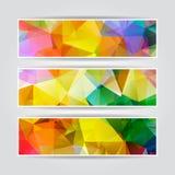 Sistema triangular colorido abstracto del jefe
