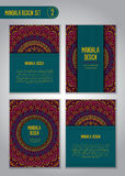 Sistema tribal del diseño de la mandala Elementos decorativos de la vendimia Foto de archivo libre de regalías