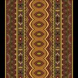 Sistema tribal del fondo de las rayas del vector abstracto Imagenes de archivo