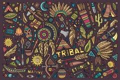 Sistema tribal del natural de símbolos Foto de archivo libre de regalías