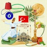 Sistema turco del vector Foto de archivo