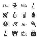 Sistema universal de los iconos de los juguetes 16 para el web y el móvil Fotografía de archivo