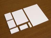 Sistema vacío de plantillas de la identidad corporativa Foto de archivo libre de regalías