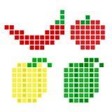 Sistema vegetal del pixel de la pimienta Imágenes de archivo libres de regalías