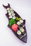 Sistema vegetariano del sushi Foto de archivo