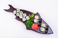 Sistema vegetariano del sushi Imagenes de archivo