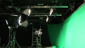 Sistema verde de la iluminación de la pantalla almacen de metraje de vídeo