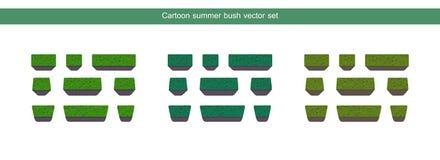 Sistema verde del vector del arbusto Foto de archivo