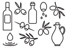 Sistema verde oliva, diseño del esquema Ilustraci?n del vector stock de ilustración