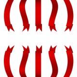 Sistema vertical de la bandera de la cinta roja stock de ilustración