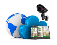 Sistema video de la observación Imagen de archivo libre de regalías