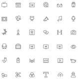 Sistema video del icono Fotos de archivo libres de regalías