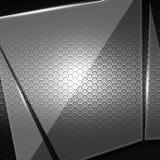 Sistema 8 vidrio roto en la pared negra del metal Imagen de archivo