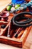 Sistema y accesorios de la cachimba Fotografía de archivo