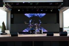 Sistema y luces del tambor Imagen de archivo libre de regalías