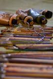Sistema y vidrios de cepillo de los pintores Imagen de archivo