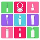 Sistemas cosméticos de la belleza Fotografía de archivo