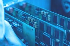 Sistemas da placa de circuito eletrônico dispositivo e componentes fotografia de stock royalty free