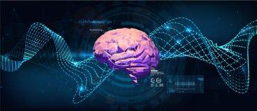 Sistemas das inovações que conectam dispositivos dos povos e dos robôs ilustração stock