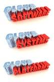 Sistemas de cálculo de la nube stock de ilustración