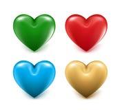 Sistemas de 3D Mesh Hearts colorido ilustración del vector